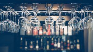 storage alcohol home glasses