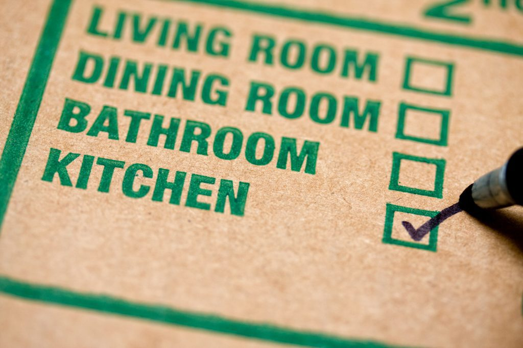 Moving box label - room by room label