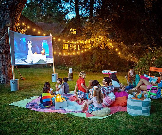 Setting up a cool garden film night for kids - Beyond Storage
