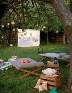 Making the perfect garden cinema screen - Beyond Storage