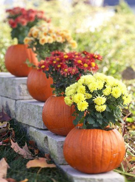 Halloween Arts - Pumpkin Plant Pots