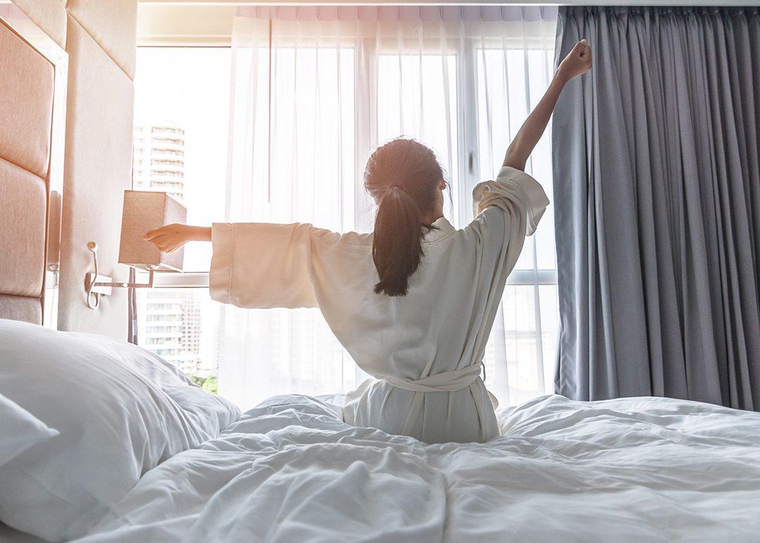 stretch after sleep