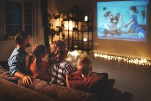 Home cinema for family activities